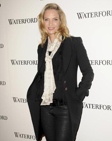 Uma Thurman pregnant over 40