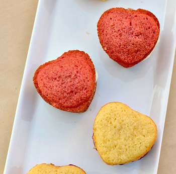 Mini heart shaped whoopie pies