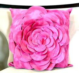 Designer vintage pink velvet pillow cover