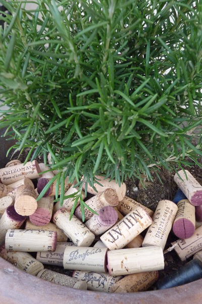 Wine cork mulch