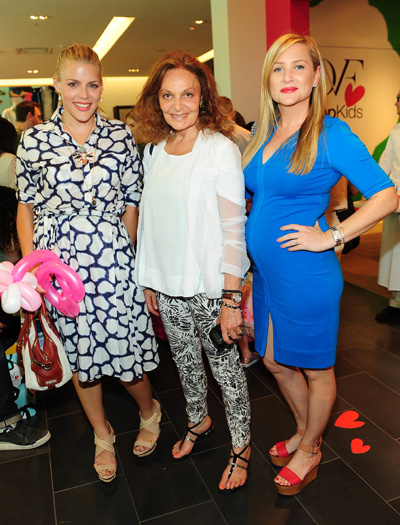 Pregnant Jessica Capshaw, Busy Phillips, Diane von Furstenberg