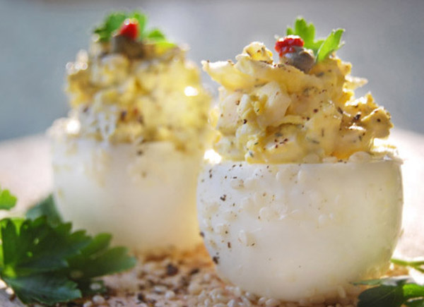 deviled crab eggs