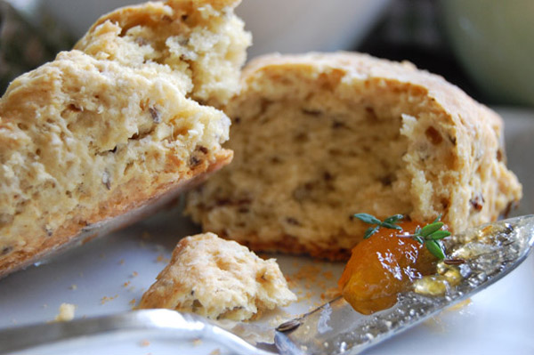 Simple soda bread goes all biscuit and scone