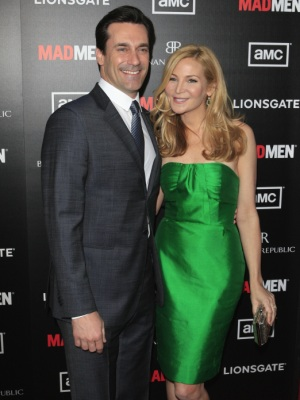 Jon Hamm and Jennifer Westfeldt at Mad Men Season 5 premiere
