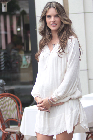 Alessandra Ambrosio loves being pregnant!