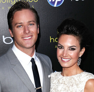 Armie Hammer and wife Jessica Chambers