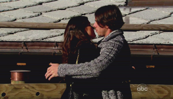 Ben Flajnik and Courtney Robertson embrace