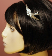 etro silver swallow headband