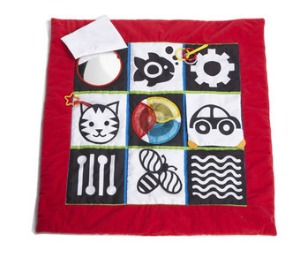 black and white play mat