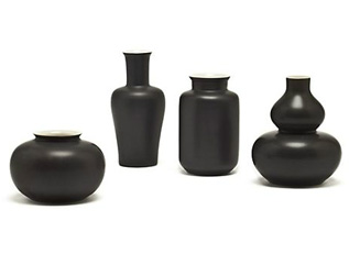 Mini black vases