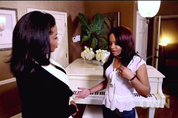 Oprah Winfrey interviews Bobbi Kristina Brown.