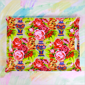 Bright Bouquet Tray, shopfurbish.com, $75