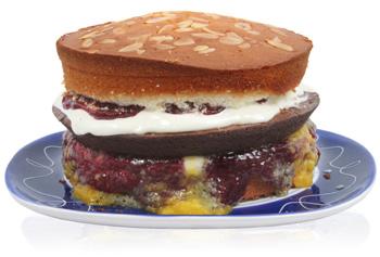 Juicy hamburger cake