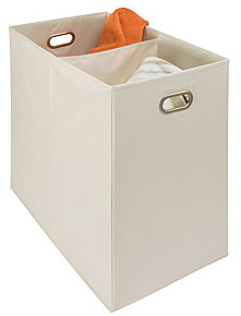 Canvas 2-Compartment Laundry Hamper