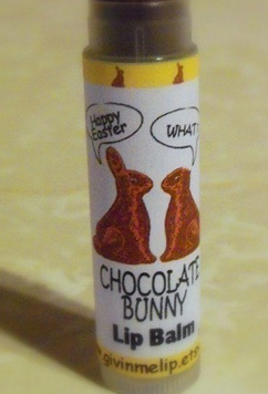 Chocolate bunny lip balm