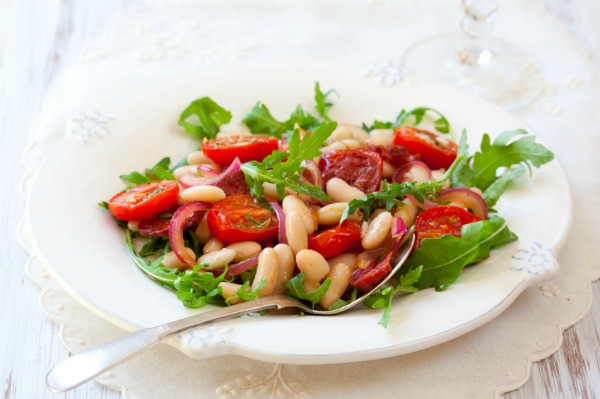 Chorizo and white bean salad