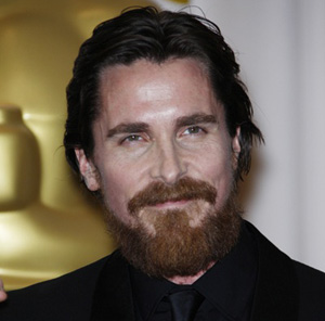 Christian Bale with a beard