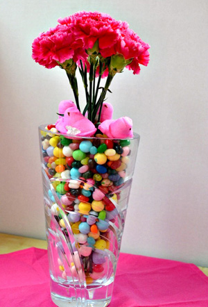 Candy filled centerpiece