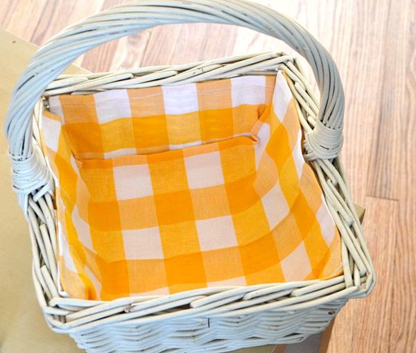 Diy Fabric Lined Basket