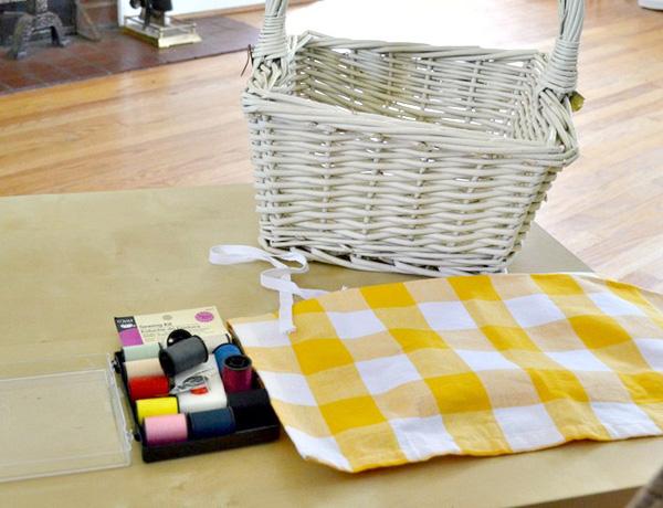 Materials For Basket Making : Diy fabric lined basket