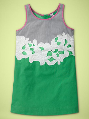 DVF (heart) GapKids Daisy Dress in Ming Jade: ($75)
