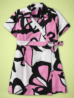 Diane Von Furstenberg (heart) GapKids Printed Wrap Dress in Pink Lady: ($65)