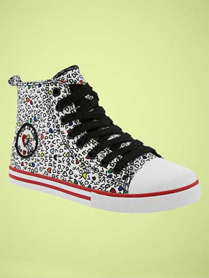 DVF (heart) GapKids Printed Hi-Tops: ($40)