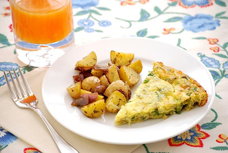 Springtime vegetable frittata