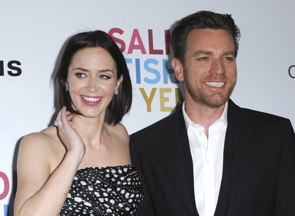 Emily Blunt and Ewan McGregor at the premiere of Salmon Fishing in Yemen