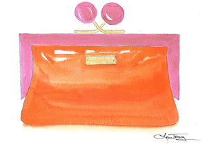 Kate Spade clutch watercolor