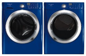 Frigidaire Affinity Blue Front Load Washer & Gas Dryer