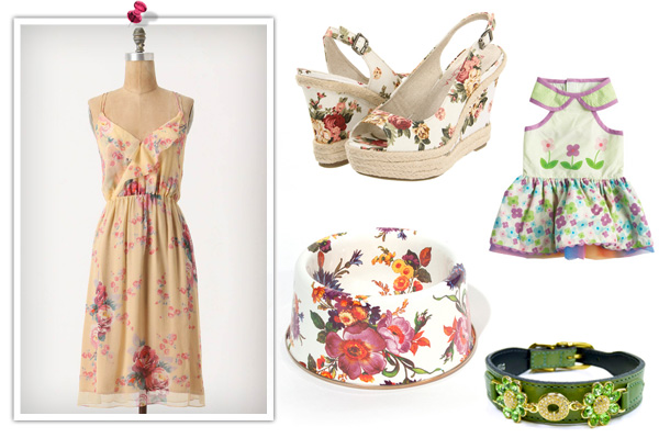 Floral prints for human and dog