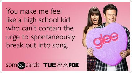 Perfekt Glee Valentines Day Love Fox Tuesday Nig