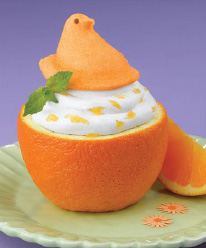 Orange Chantilly Cream-Filled Oranges