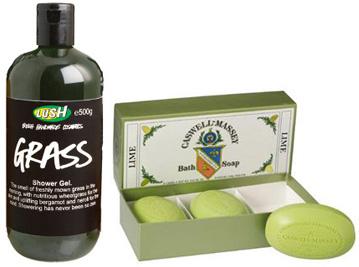 Green bath soaps