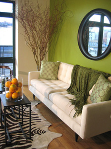 Green living room by Cathy Hobbs