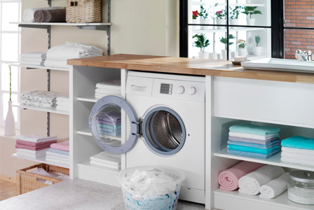 Home laundry center