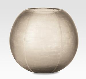 Etched round vase