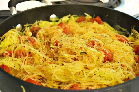 Italian seasoned spaghetti squash
