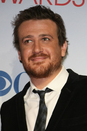 Jason Segel showing off his package for The Five-Year Engagement