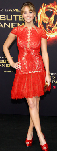 Jennifer Lawrences at The Hunger Games premiere -- Berlin