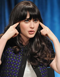 Zooey Deschanel channeling Jess, her New Girl character
