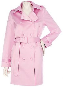 Joan Rivers pink trench coat