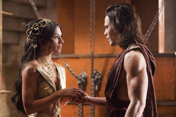 John Carter with Taylor Kitsch and Lynn Collins
