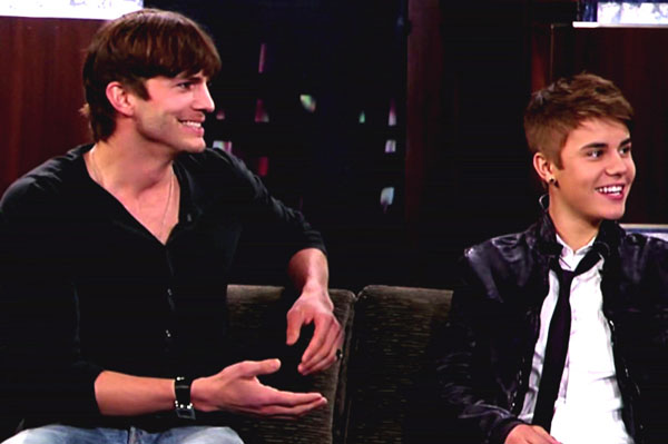 Ashton Kutcher and Justin Bieber talk real estate