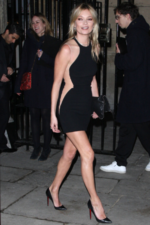 Kate Moss sends four pedestrians to the hospital!