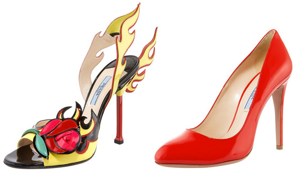 Fire inspired heels and red heels