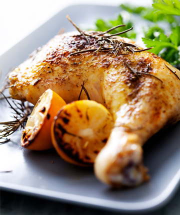 Lemon roasted chicken thigh