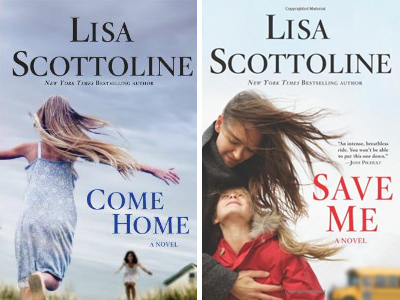 Lisa Scottoline -- Save me & Come Home book covers