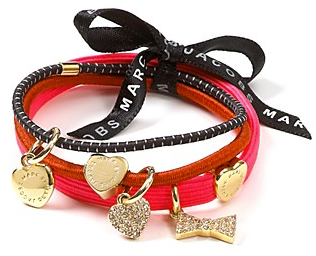Marc Jacobs heart charm ponytail holder
